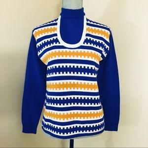Vtg Ski Chalet Sweater